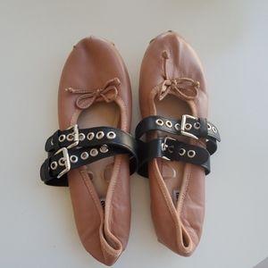 Miu Miu Leather Ballerina Flats